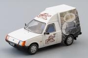 ЗАЗ-1305 Кофемобиль, белый с рекламой (1/43)