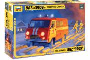 Автомобиль УАЗ-3909 Пожарная служба (1/43)