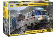 Автомобиль УАЗ-3909 Аварийно-спасательная служба (1/43)