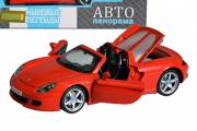 Porsche Carrera GT, красный  (свет, звук, инерция) (1/24)
