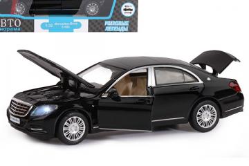 Mercedes-Benz S600, черный (свет, звук, инерция) (1/32)