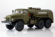 ТЗ-5 (375) топливозаправщик 'Огнеопасно', хаки (1/43)