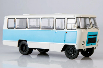 Автобус Кубань-Г1А1-02, белый/голубой (1/43)