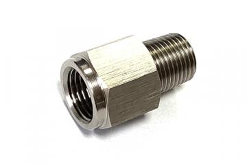 Переходник гайка 1/4 - штуцер 1/8 с уплотнительным кольцом JAS 8101