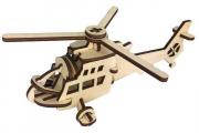 Конструктор 'Вертолет' 205х145х85 (19 дет). Дерево