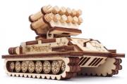 Конструктор 'Ракетная установка' 100х70х65 (46 дет). Дерево