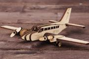 Конструктор 'Самолет Cessna' 210х175х60 мм (36 дет). Дерево
