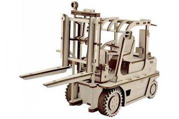 Конструктор 'Погрузчик' 285х105х165 мм (123 дет). Дерево. Клей ПВА. Наждачка