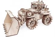 Конструктор 'Трактор Бульдог' 305х160х170 мм (262 дет). Дерево. Клей ПВА. Наждачка