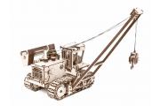 Конструктор 'Трубоукладчик'  297х165х180 мм (472 дет). Дерево. Клей ПВА. Наждачка