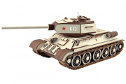 Конструктор 'Танк Т-34-85' 340х140х135 мм (651 дет). Дерево. Клей ПВА. Наждачка (3)