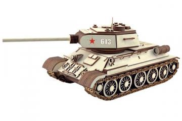 Конструктор 'Танк Т-34-85' 360х140х135 (612 дет). Дерево. Клей ПВА. Наждачка