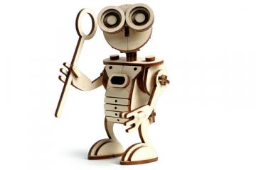 Конструктор 'Робот САН' 130х80х60 (71 дет). Дерево. Клей ПВА. Наждачка