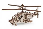 Конструктор 'Вертолет Акула' 150х130х60 (41 дет) с резиномотором. Дерево. Клей ПВА. Наждачка