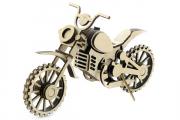 Конструктор 'Мотоцикл Кросс' 205х70х130 мм (75 дет). Дерево. Клей ПВА. Наждачка