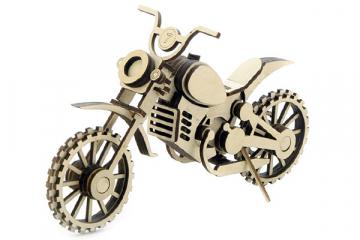 Конструктор 'Мотоцикл Кросс' 205х70х130 (75 дет) Дерево. Клей ПВА. Наждачка