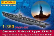 Подводная лодка типа IX A/B германская с фототравлением (1/350)