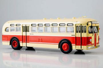 Автобус ЗИС-154, бежевый/красный (1/43)