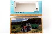 Коробка 'Трактор МТЗ-82 с прицепом' сделано в России 18х9х6 см (1/43)