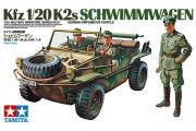 Автомобиль - амфибия Schwimmwagen немецкий с тремя фигурами (1/35)
