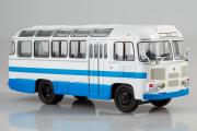 Автобус ПАЗ-672М, белый/синий (1/43)