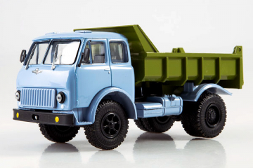 МАЗ-503Б самосвал, голубой/зеленый (1/43)
