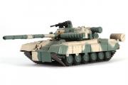 Танк Т-80 №126, бежевый/зеленый камуфляж (1/72)