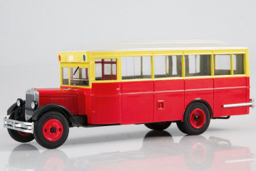 Автобус ЗИС-8, красный/желтый (1/43)