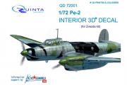 3D Декаль интерьера кабины Пе-2 (Звезда 7283) (1/72)
