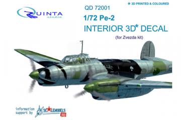 1/72 3D Декаль интерьера кабины Пе-2 (Звезда 7283)