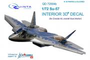 3D Декаль интерьера кабины Су-57 голубые панели (Звезда 7319) (1/72)