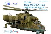3D Декаль интерьера кабины Ми-24В (Звезда) (1/72)