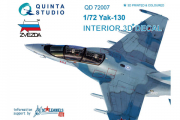 3D Декаль интерьера кабины Як-130 (Звезда) (1/72)