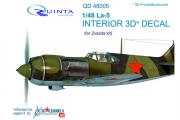 3D Декаль интерьера кабины Ла-5 (Звезда 4801) (1/48)