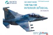 3D Декаль интерьера кабины Як-130, осн. элементы (Звезда) (1/48)