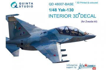 1/48 3D Декаль интерьера кабины Як-130, осн. элементы (Звезда)