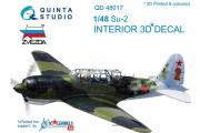 3D Декаль интерьера кабины Су-2 (Звезда) (1/48)