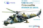 1/48 3D Декаль интерьера кабины Ми-24В (Звезда)