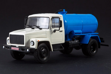 Горький-3307 КО-503В цистерна, серый/синий (1/43)