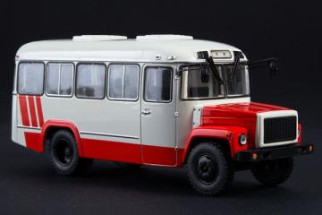 Автобус КаВЗ-3976, белый/красный (1/43)