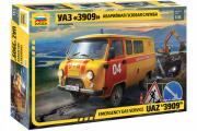 Автомобиль УАЗ-3909 Аварийная газовая служба (1/43)