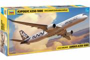 Самолет А-350-1000 пассажирский авиалайнер (1/144)