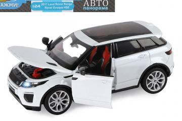 Range Rover Evoque, белый (свет, звук, инерция) (1/24)