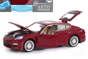 Porsche Panamera S, красный (свет, звук, инерция) (1/24)