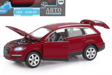 Audi Q7, бордовый (свет, звук, инерция) (1/24)