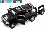 Hummer H3 (свет, звук, инерция), черный (1/32)