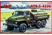 Автомобиль Урал-4320 АТЗ-5 топливозаправщик 'Огнеопасно' (1/72)