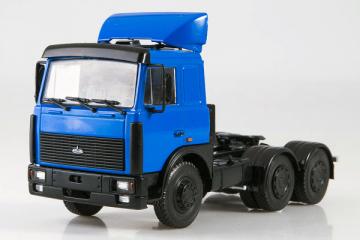 МАЗ-64221 седельный тягач со спойлером, синий (1/43)