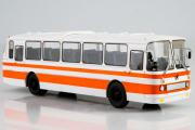 Автобус ЛАЗ-699Р, белый/оранжевый (1/43)