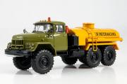 ЗИЛ-131 АТЗ-4,4-131 топливозаправщик, хаки/оранжевый (1/43)